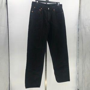 Levi's 550 black wash denim jeans mens tag 36x34
